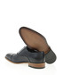 Navy blue leather textured formal shoes Sale - Bramosia Sale