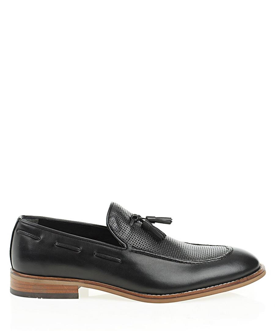 Black leather loafers Sale - Bramosia