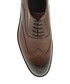 Tobacco leather formal shoes Sale - Bramosia Sale