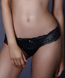 Naomi black lace thongs