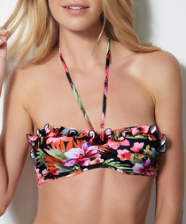 Polynesia floral bandeau bikini top