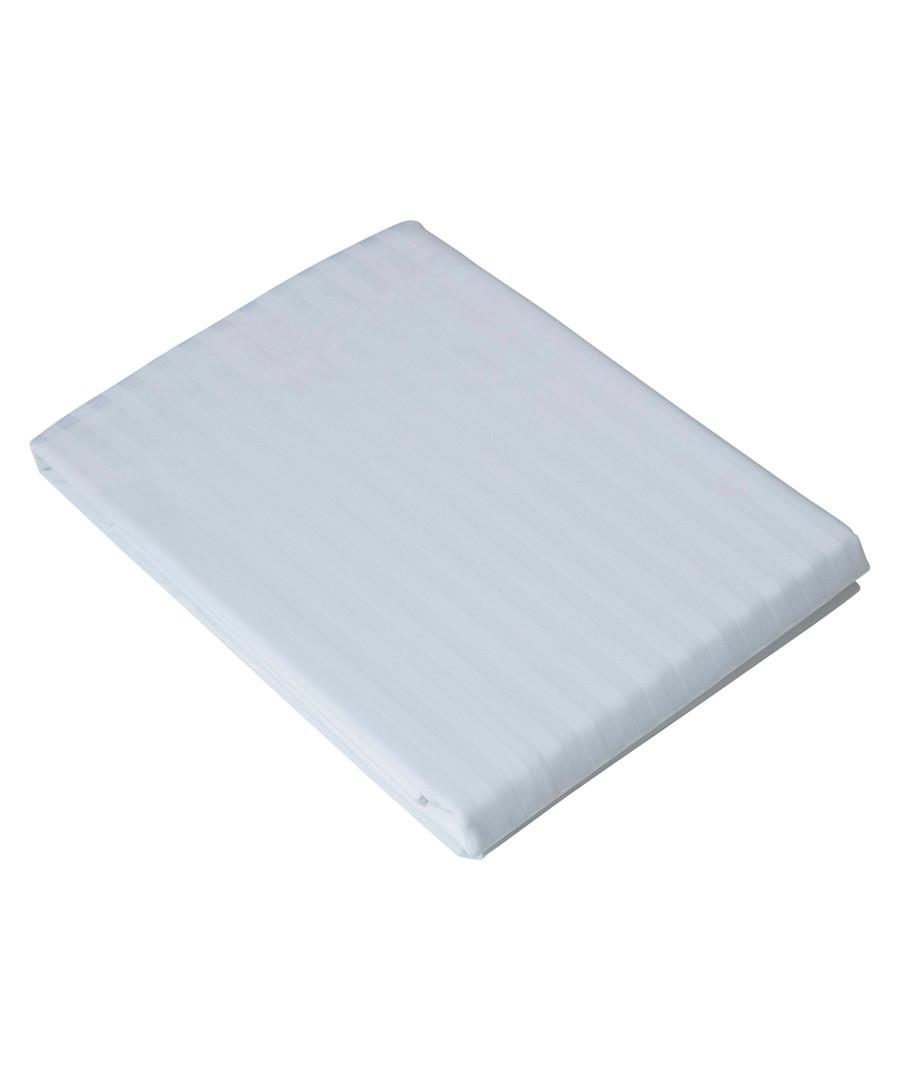 White 540TC cotton king flat sheet Sale - belledorm
