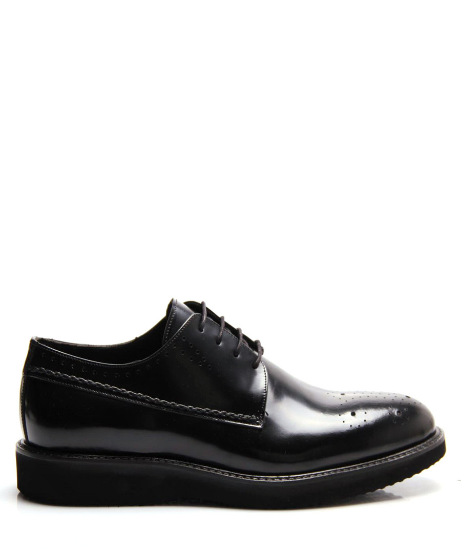 Black leather platform formal shoes Sale - REPRISE