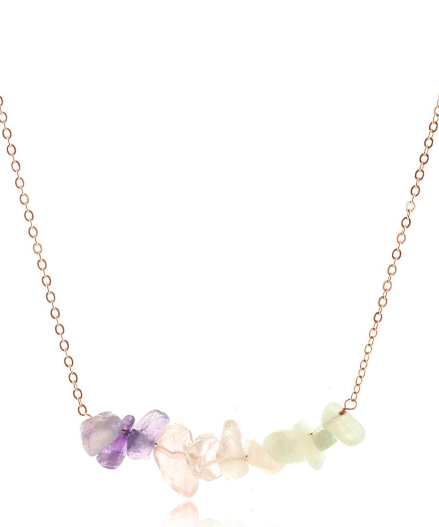 Moonstone 14ct rose gold-plated necklace Sale - fleur envy gaia