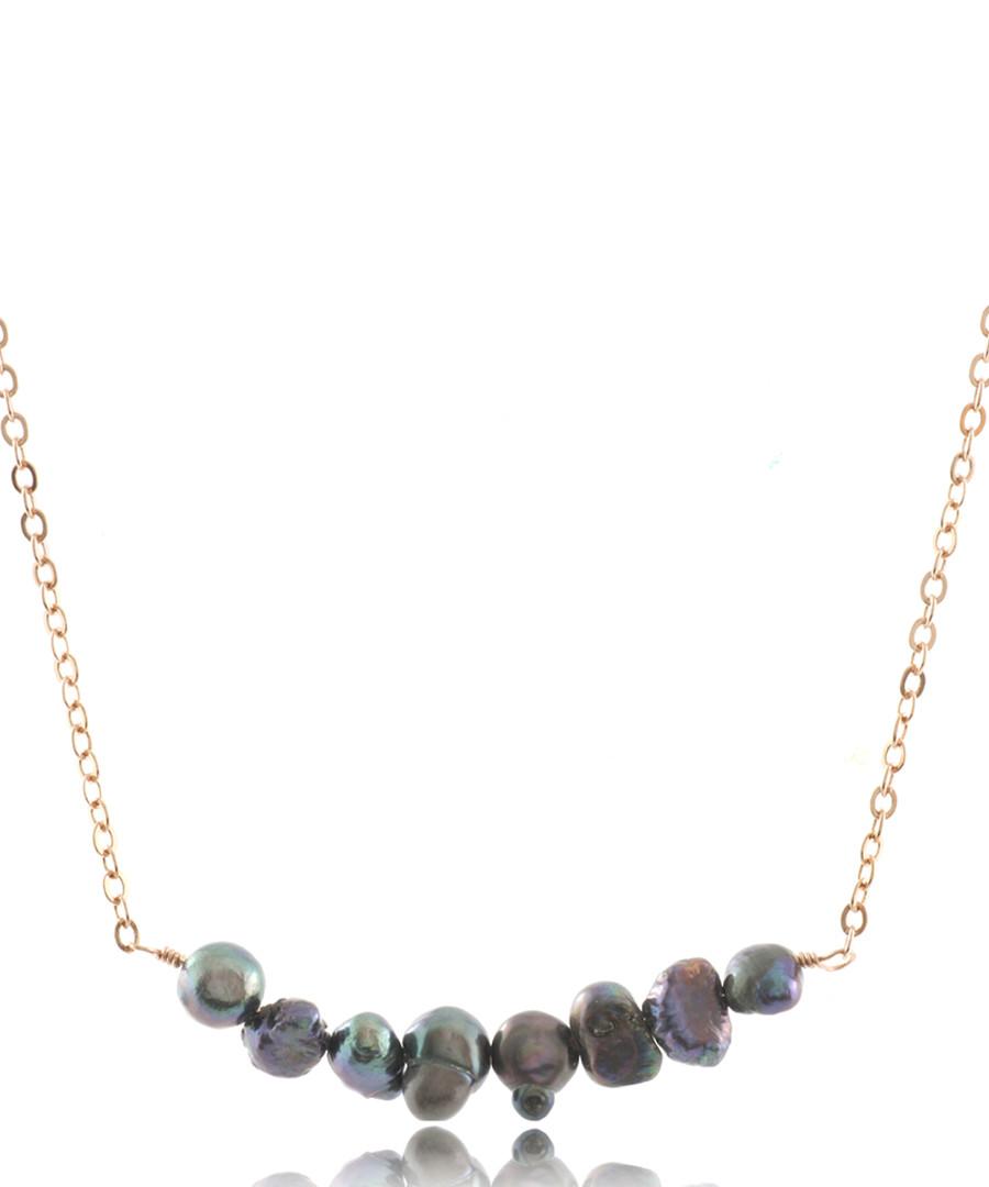 Titanium 14ct rose gold-plated necklace Sale - fleur envy