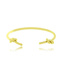 Double Knots 14ct gold-plated bangle