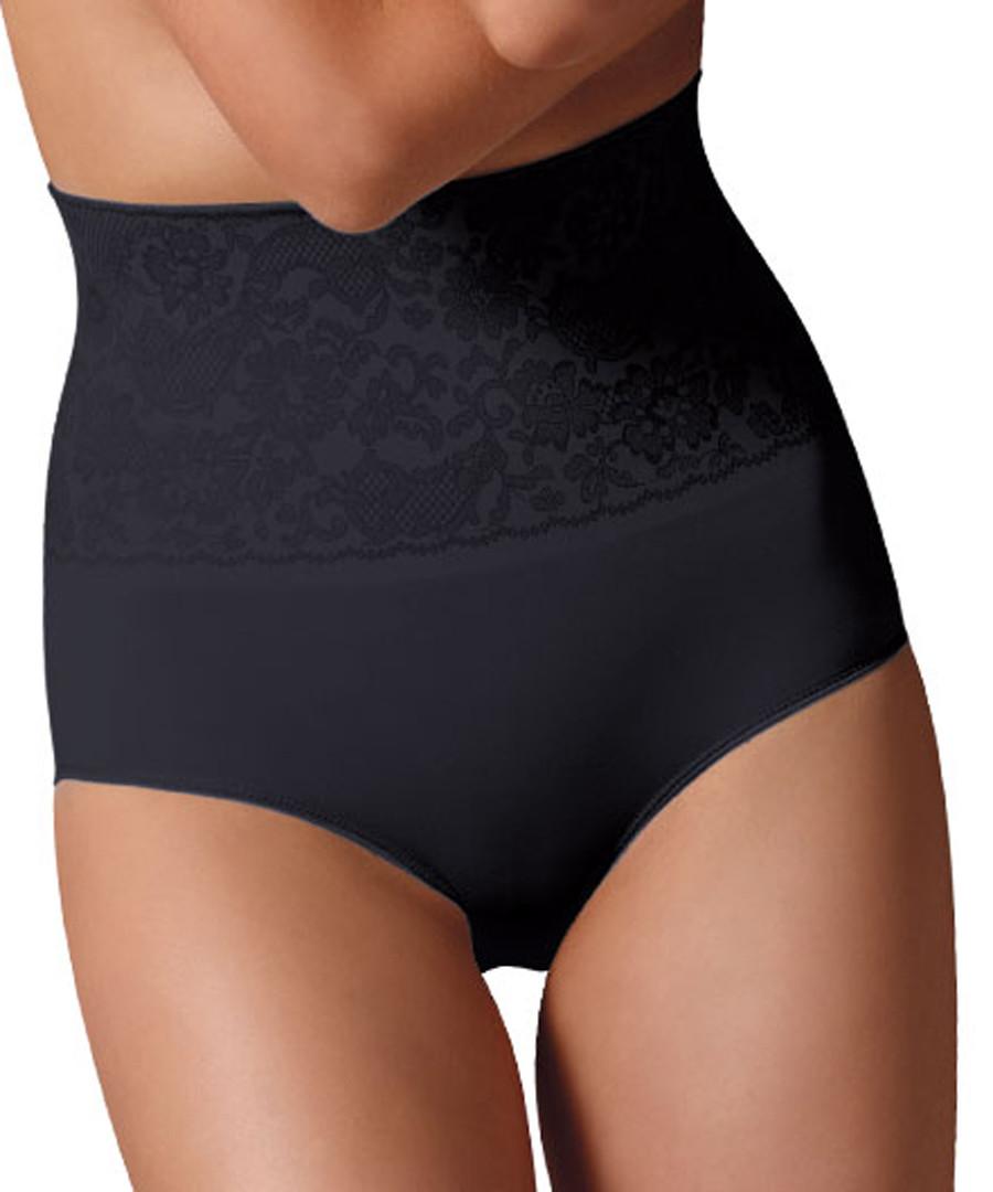 Black floral high-waist shaping briefs Sale - controlbody