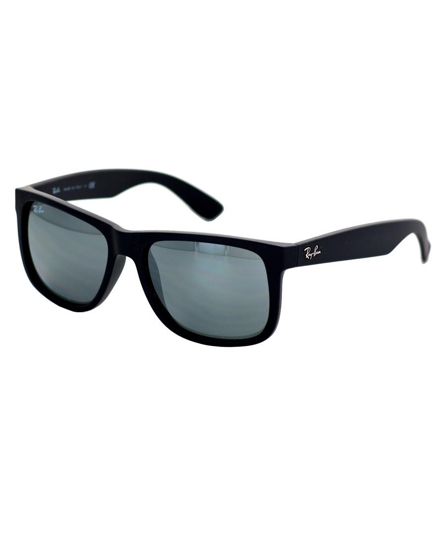 3de32700e85 Justin black   mirror silver sunglasses Sale - Rayban