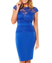 Bliss cobalt blue lace dress