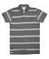 Union Jack grey pure cotton striped polo Sale - putney bridge Sale