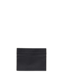 Navy leather embossed card holder