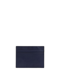 Blue leather embossed card holder