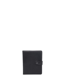 Black leather booktype tablet case