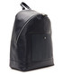 Dark blue leather dual-textured backpack Sale - Billionaire Sale