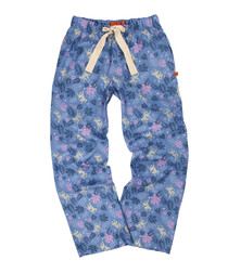 Blue cotton print pyjama bottoms