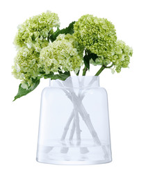 Chimney clouded glass vase