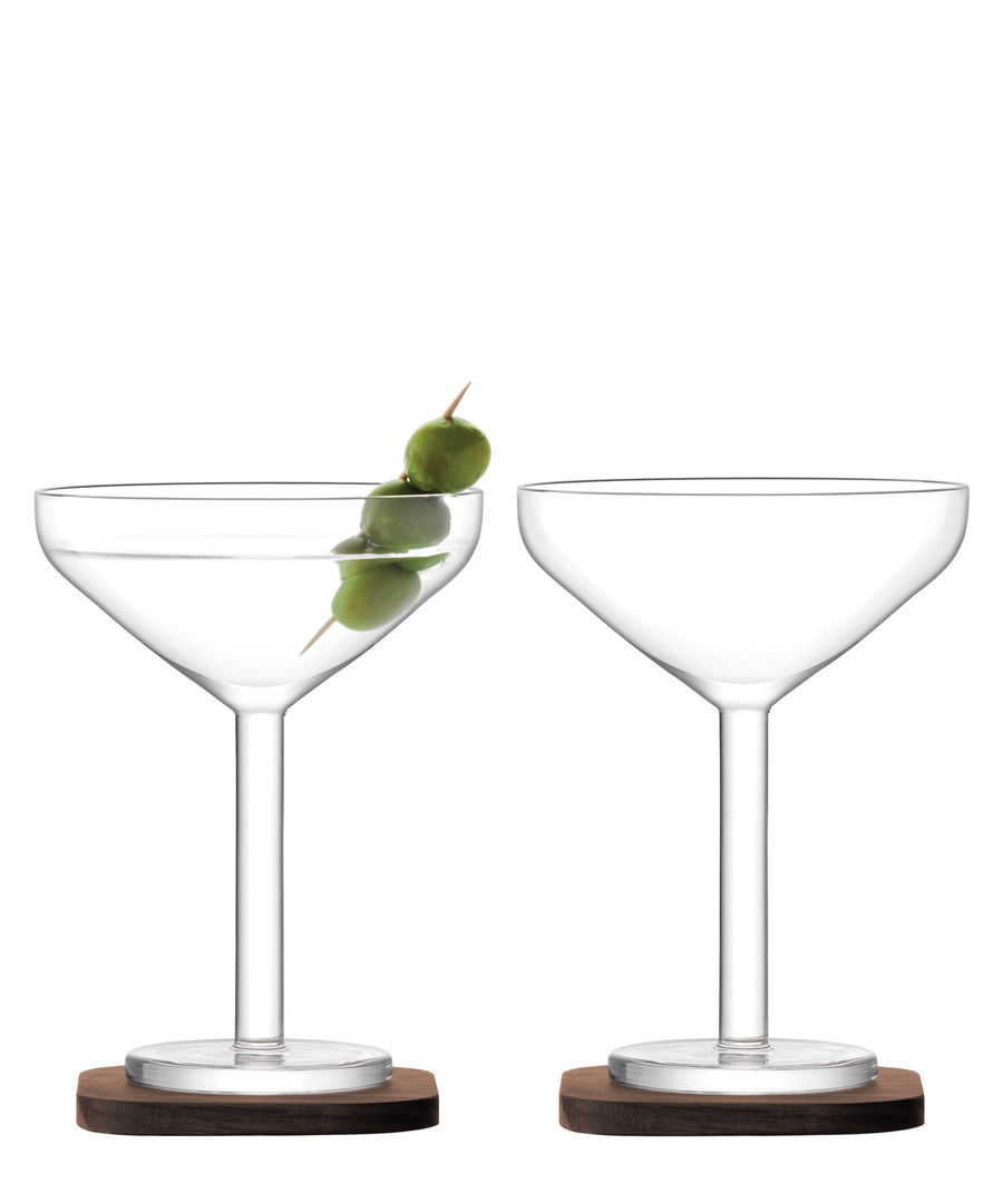 2pc City Bar cocktail glass & coasters Sale - lsa