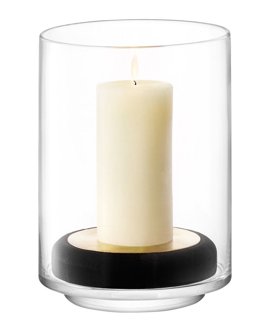 2pc Disc glass lantern & stand 24cm Sale - lsa