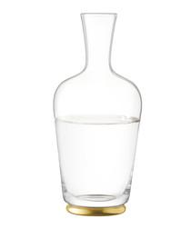 Oro gold-tone glass carafe 1.25L