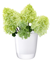 Otto white glass vase 18cm