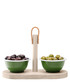 3pc Utility wood & enamel tapas set  Sale - lsa Sale