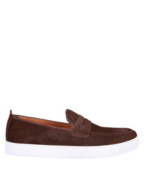 Alphonse dark brown suede loafers