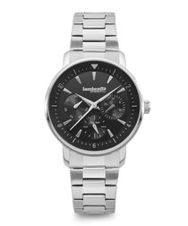 Imola 36 silver-tone steel watch