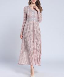 Light purple long sleeve midi dress