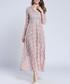 Light purple long sleeve midi dress Sale - Kaimilan Sale