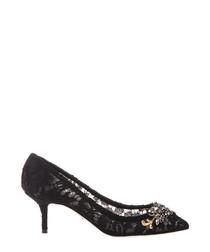 Bellucci black lace embellished heels