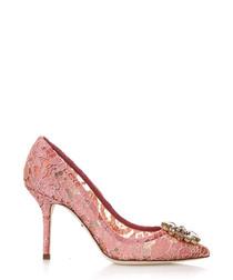 Bellucci pink lace & Swarovski heels