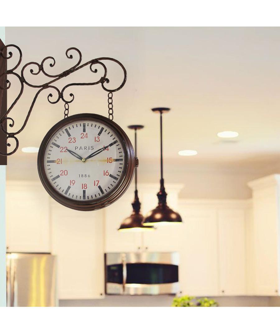 Brown vintage-style garden wall clock Sale - Walplus