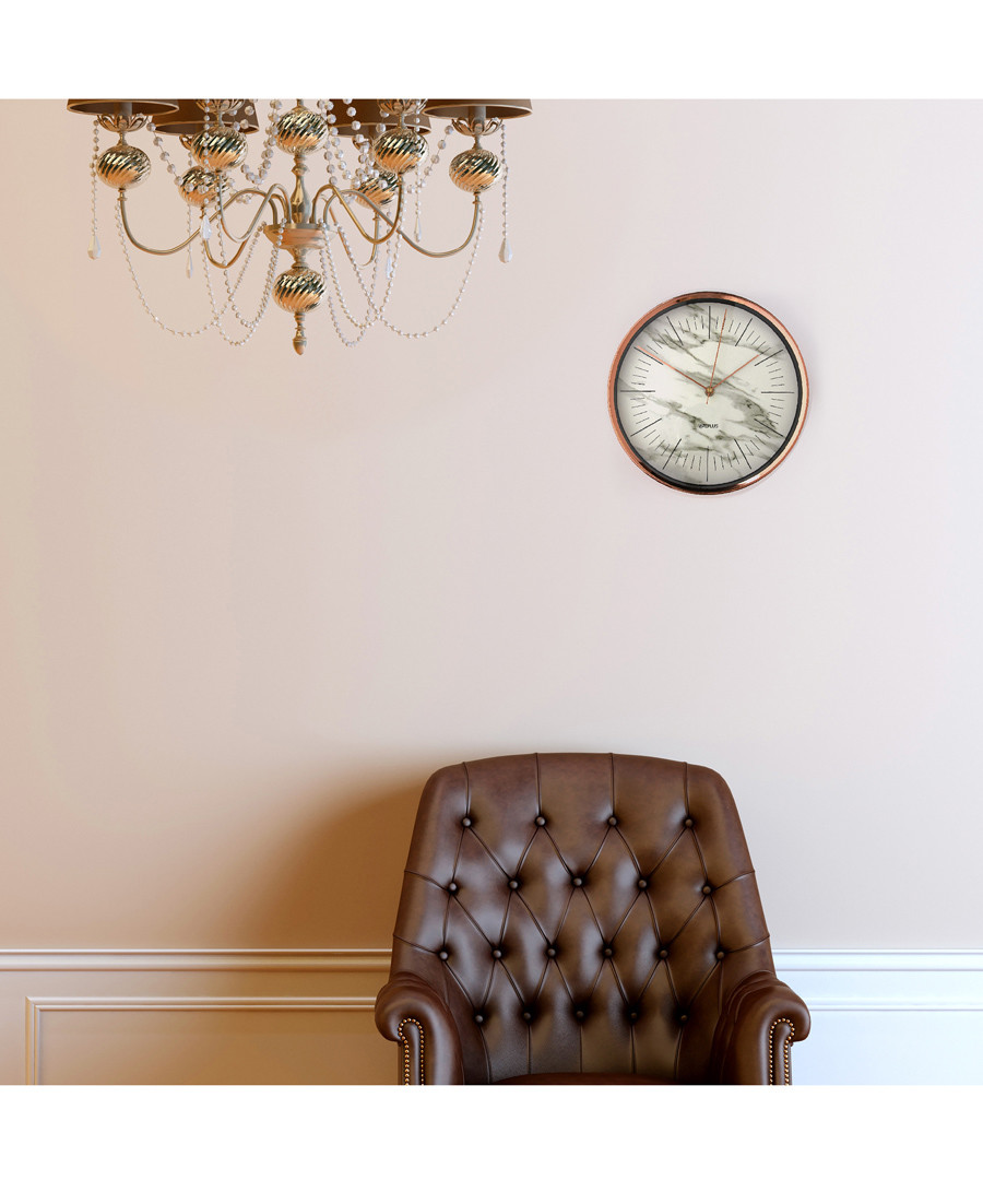 Glory Time marble-effect wall clock Sale - Walplus