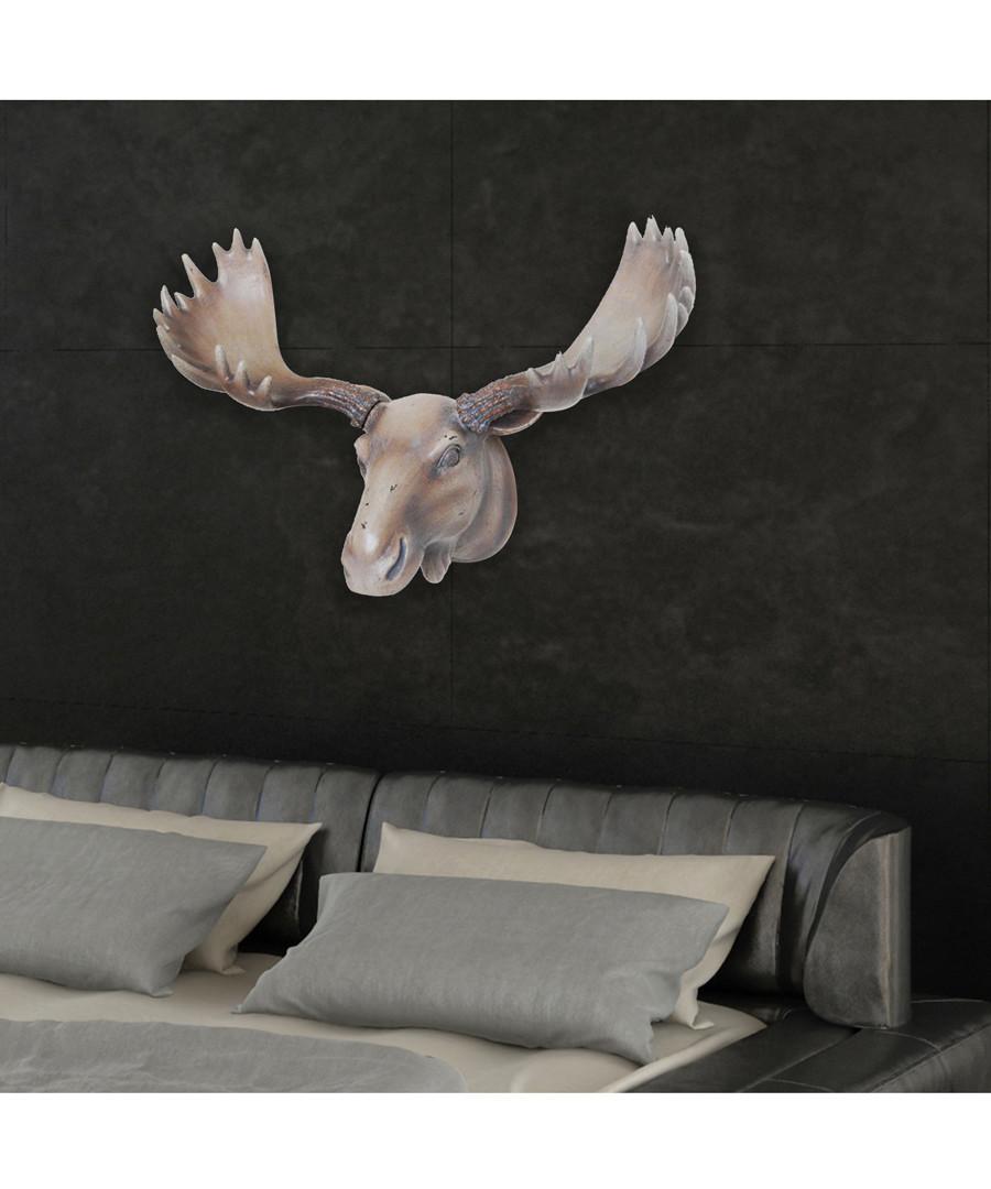 Taxidermy natural-tone moose head hanger Sale - Walplus