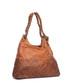 Tan leather weave-effect shoulder bag Sale - mia tomazzi Sale