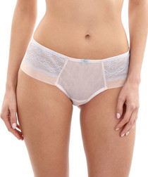 Georgia blush & blue lace briefs
