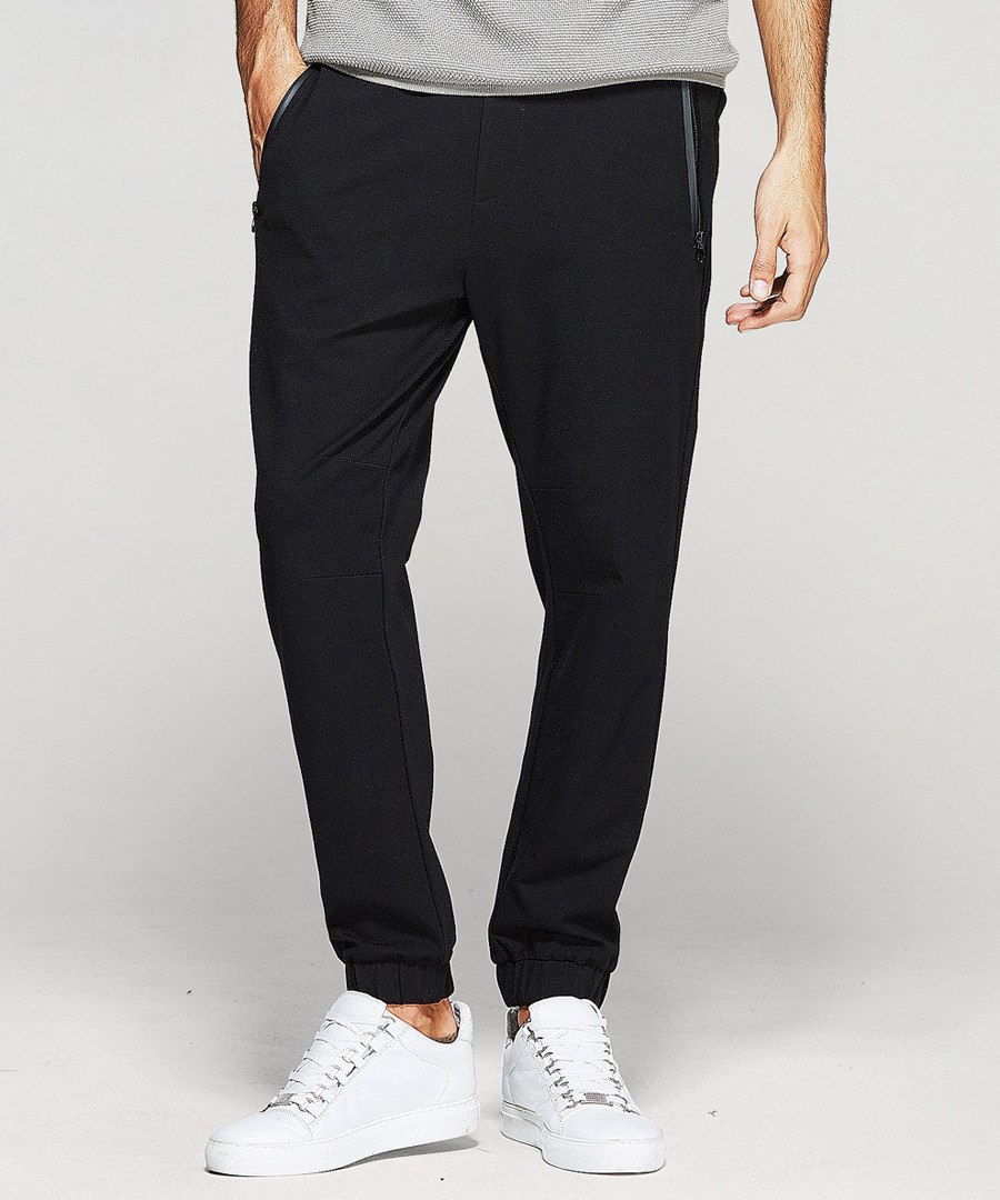 Black pocket tipping trousers Sale - kuegou