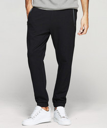 Black pocket tipping trousers