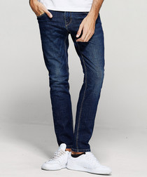Blue cotton blend jeans