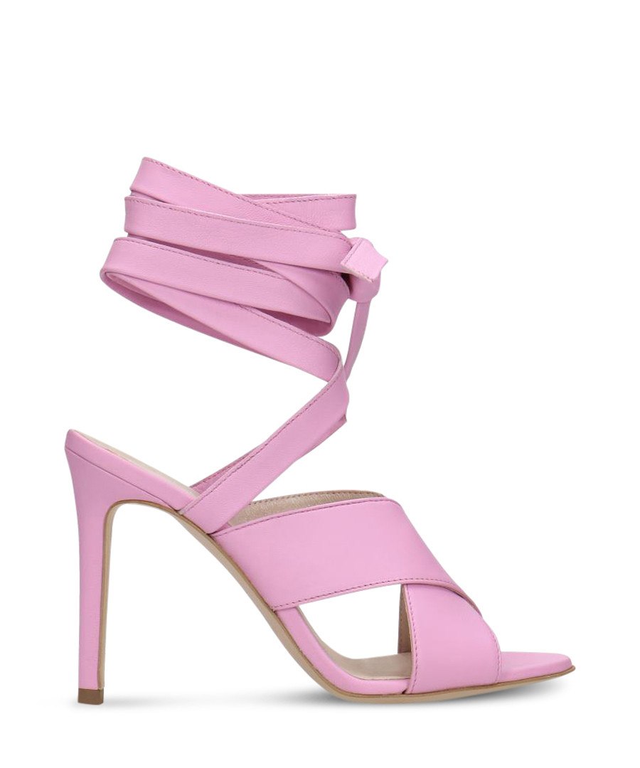 Lavender leather wrap-around heels Sale - Gino Rossi