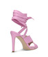 Lavender leather wrap-around heels Sale - Gino Rossi Sale