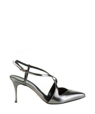 c869604d9690 Mirror silver-tone leather strappy heels Sale - SERGIO ROSSI Sale