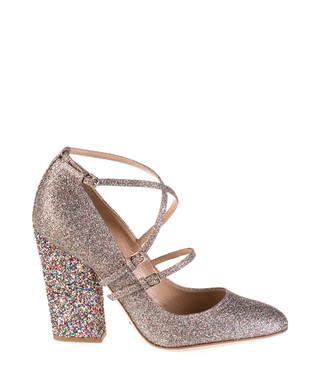 0c70667d3673 Fashion Glitter gold-tone strappy heels Sale - SERGIO ROSSI Sale