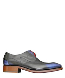 Carter navy leather Derby shoes