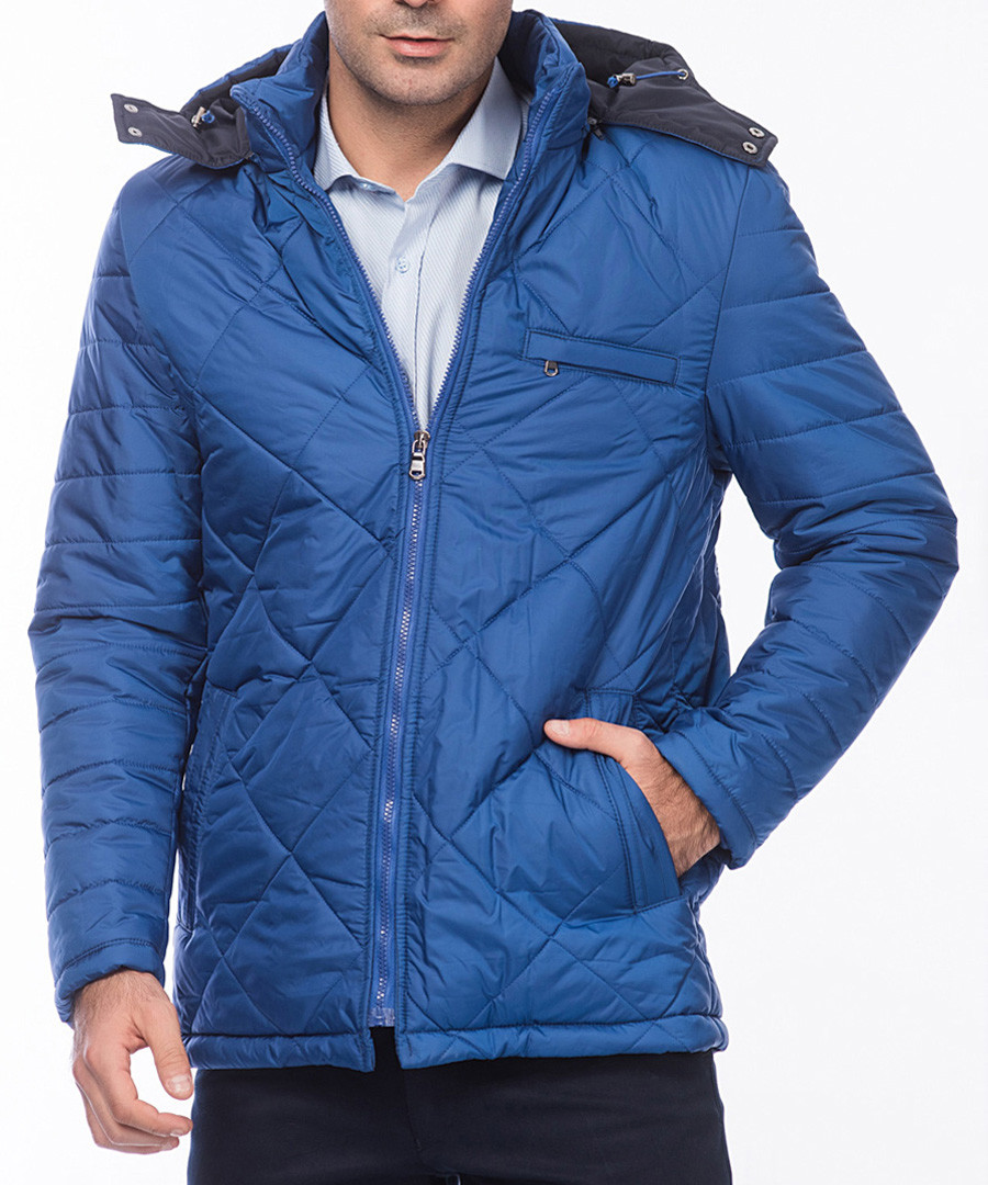 Blue diamond quilt jacket  Sale - Dewberry