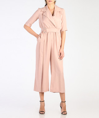 bc42f013dcf Light pink wrap front jumpsuit Sale - marmuri Sale