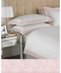 Petite blush pure cotton king duvet set