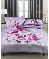 Windsor lilac cotton king duvet set