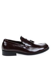 Bordeaux leather tassel loafers