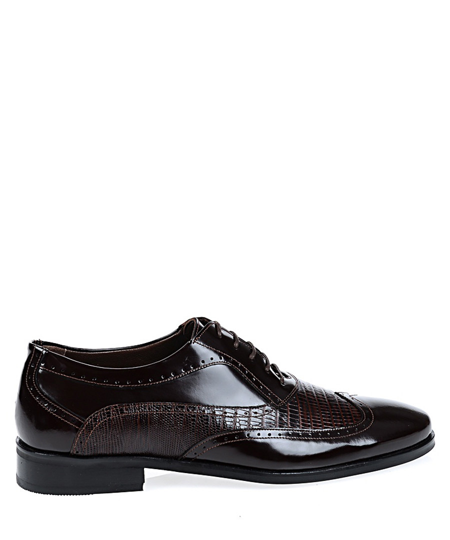 Brown leather Oxford shoes Sale - Baqietto